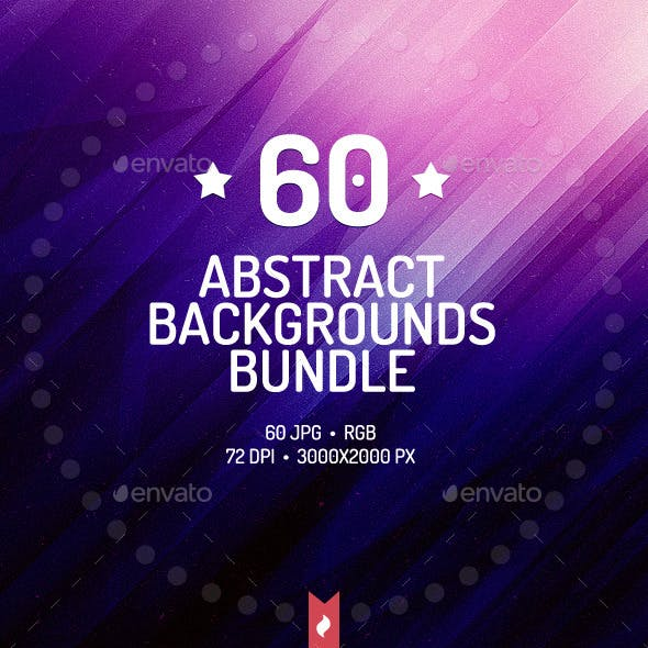 60 Abstract Backgrounds Bundle
