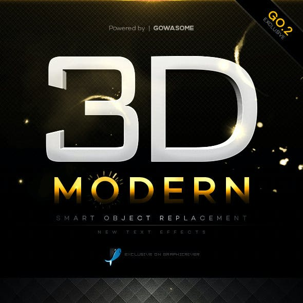 Modern 3D Text Effects GO.2