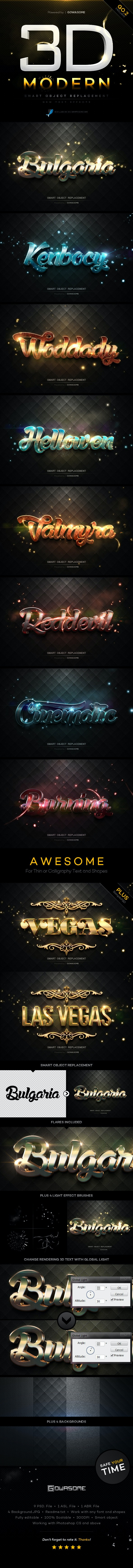 Modern 3D Text Effects GO.2 - Text Effects Styles