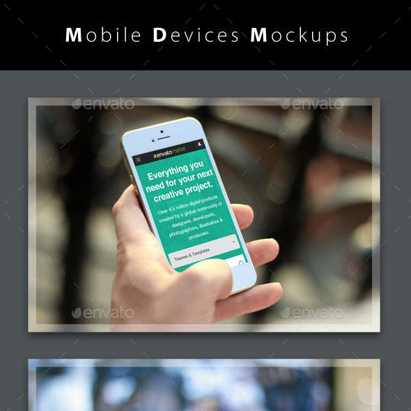 Mobile Devices Mockups