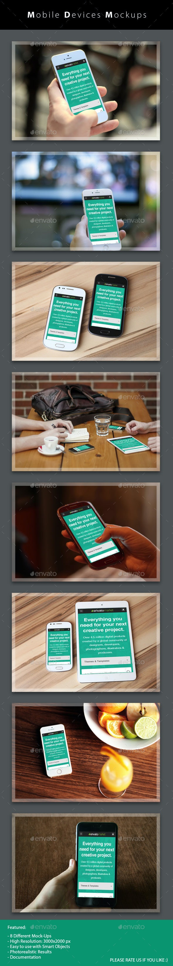 Mobile Devices Mockups - Product Mock-Ups Graphics