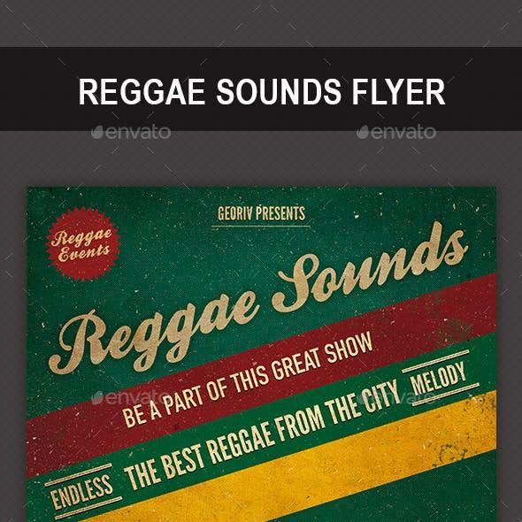 Reggae Sounds Flyer