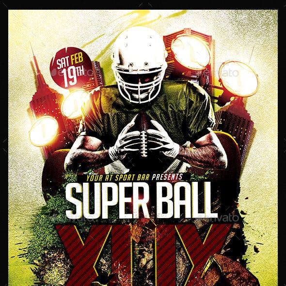 Super Ball Final Match | Flyer Template PSD