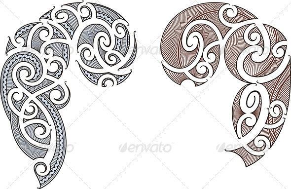 Maori Tattoo Design - Tattoos Vectors