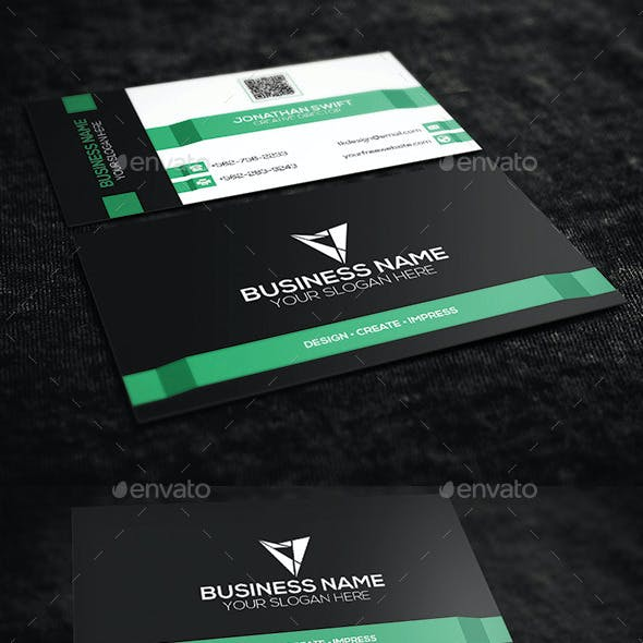 Mint Green Corporate Business Card