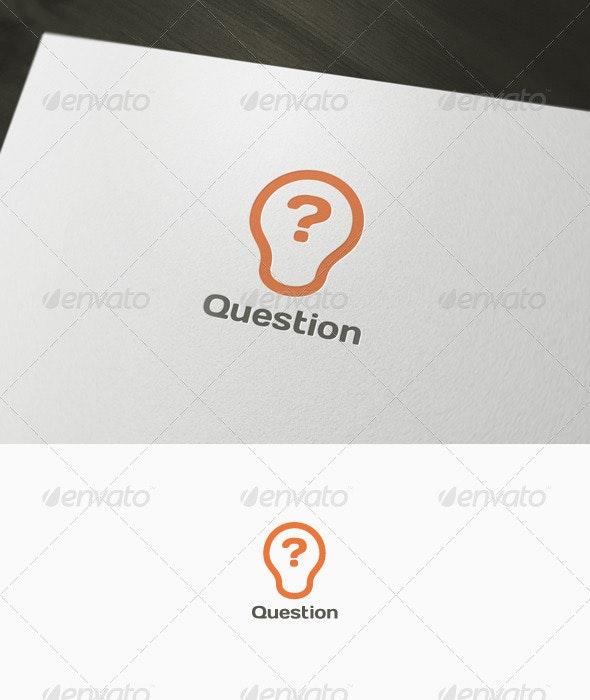 Question Logo - Symbols Logo Templates