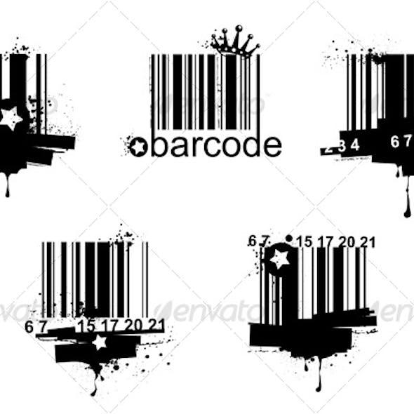 Grunge barcodes