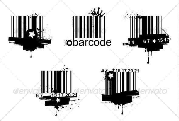 Grunge barcodes - Decorative Symbols Decorative