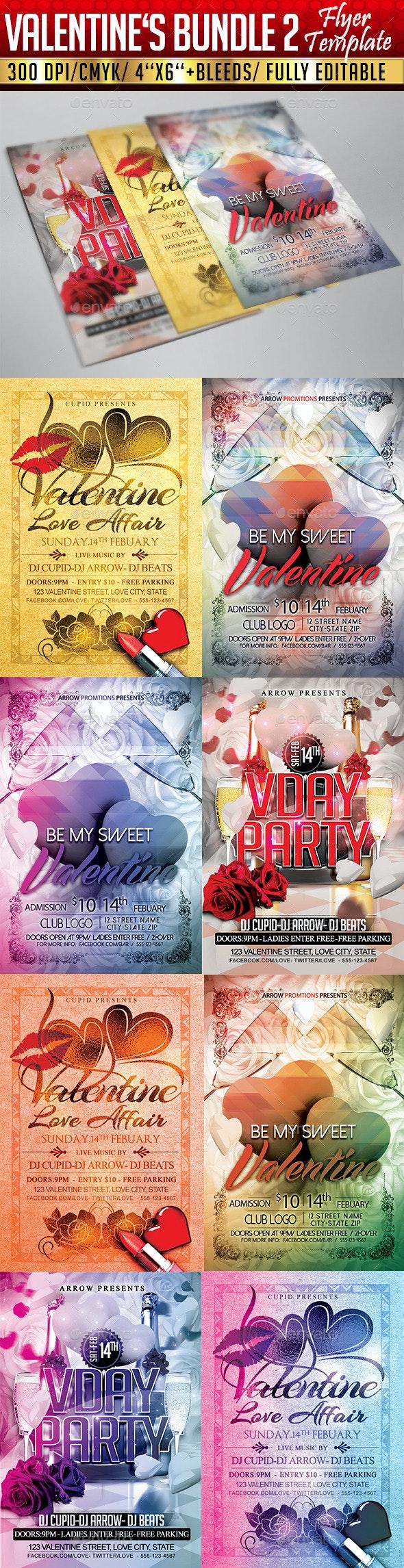 Valentine's  Flyer Bundle 2 - Clubs & Parties Events