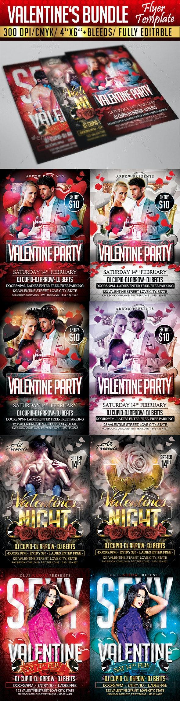 Valentine's Flyer Bundle - Events Flyers