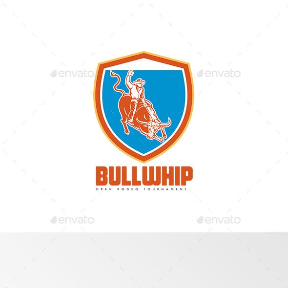 Bullwhip Open Rodeo Tournament Logo