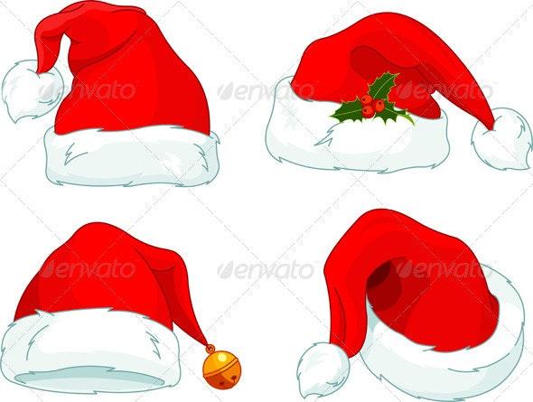 Santa Claus  hat collection  - Christmas Seasons/Holidays