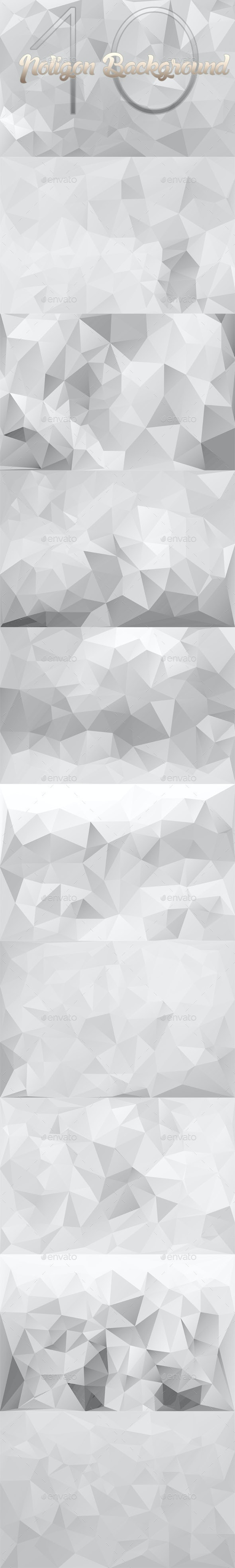 10 Backgrounds Polygon Part 9 - Abstract Backgrounds