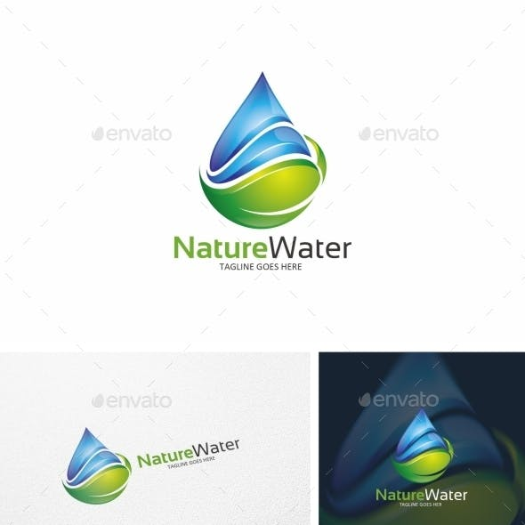 Water & Leaf -  Logo Template