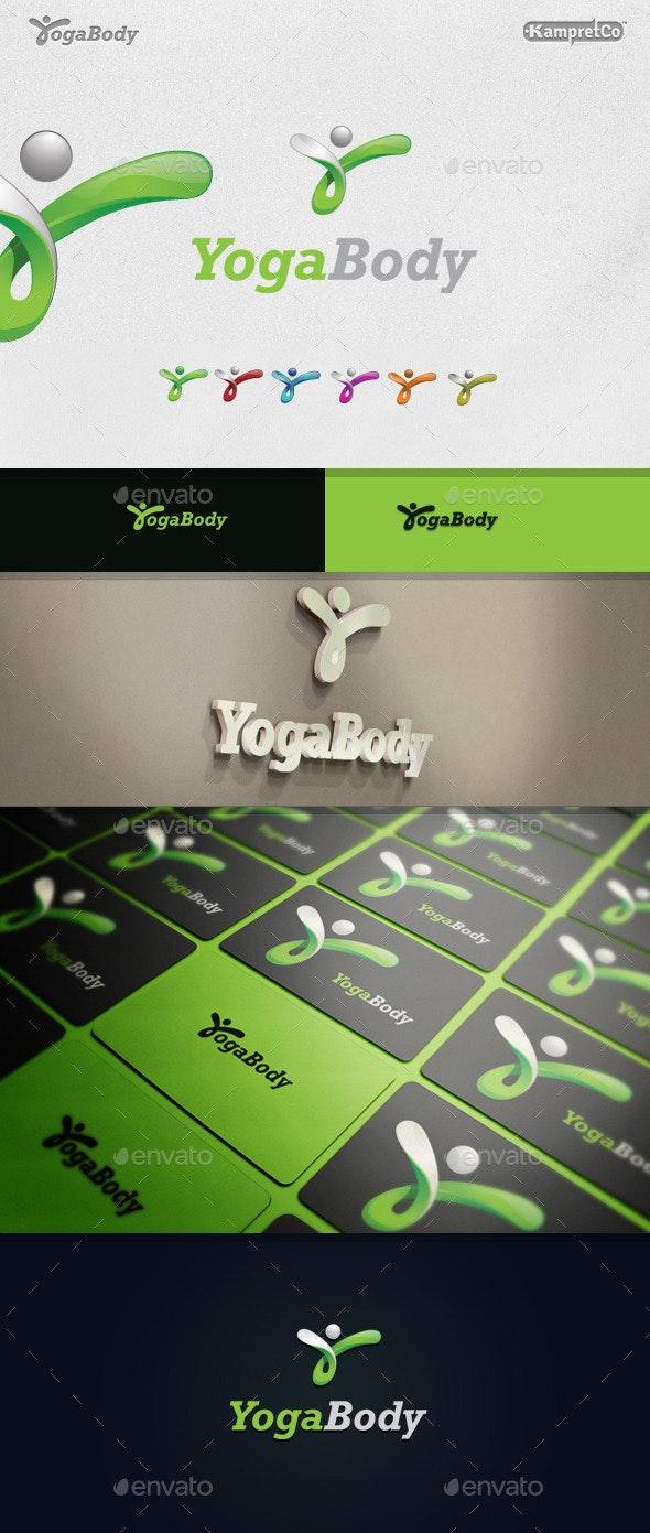Yoga Body Logo - Letters Logo Templates