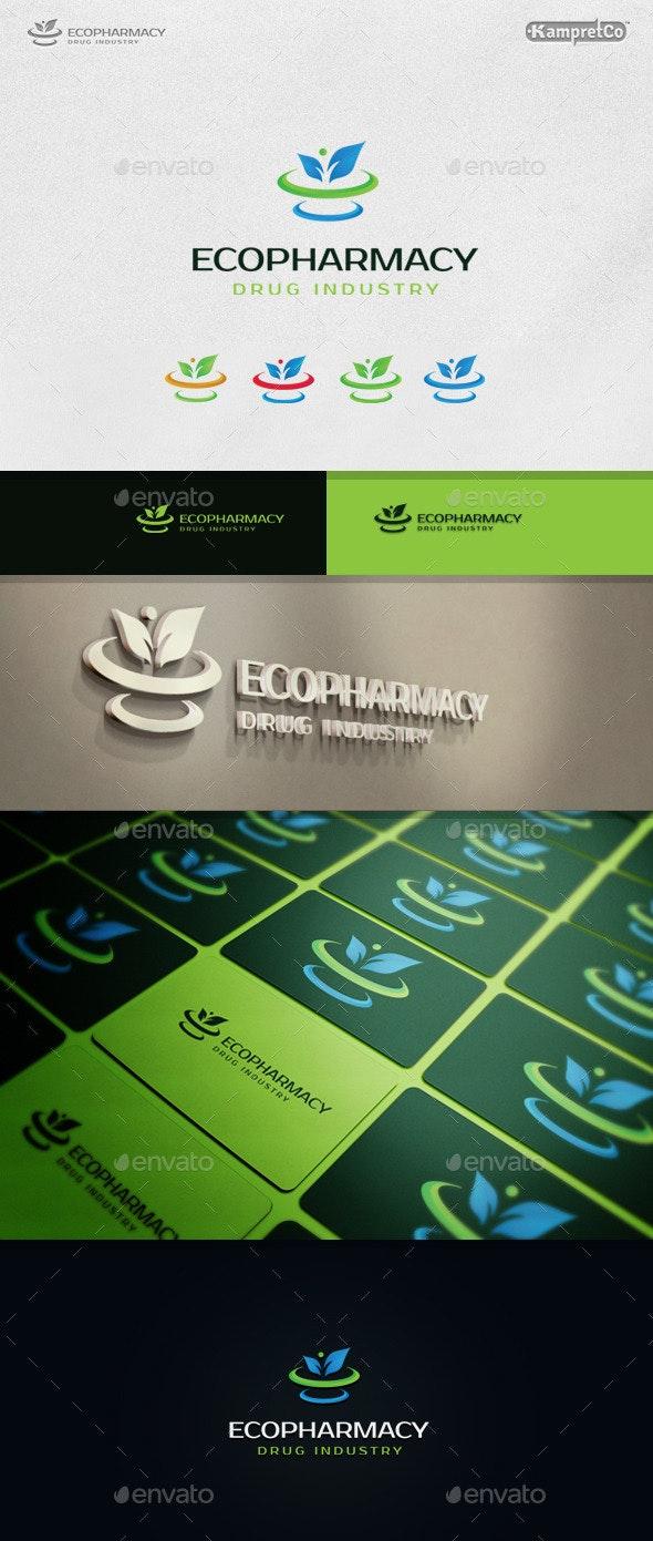 Eco Pharmacy Logo - Nature Logo Templates