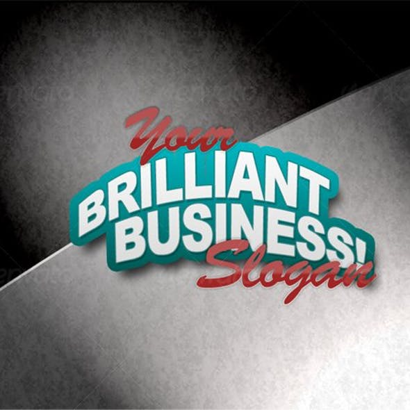 Business Logo Text/Advert