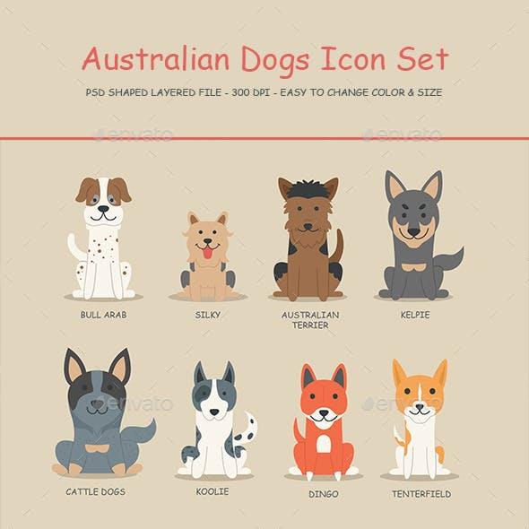 Australian Dogs Icon set 01