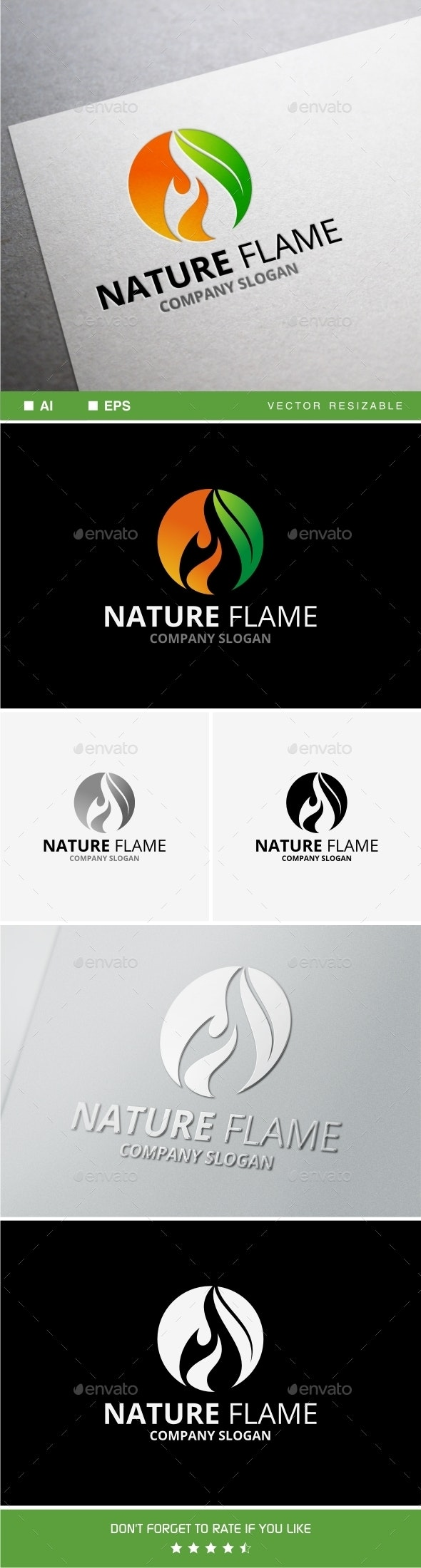 Nature Flame - Nature Logo Templates