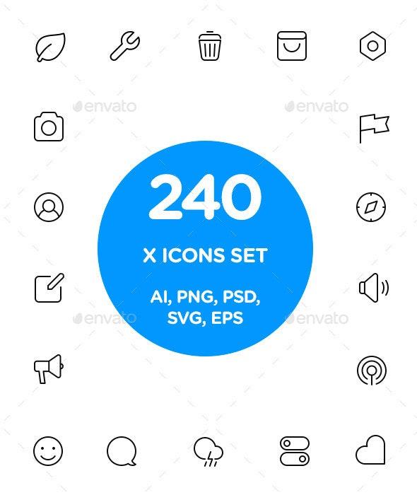 X Icon Set