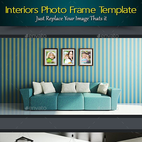 Interiors Photo Frame Template