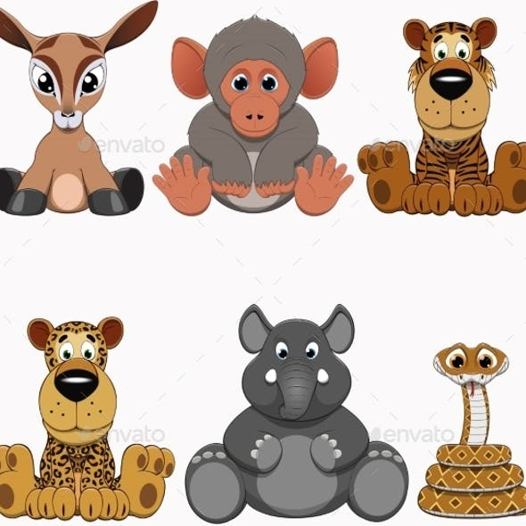 Colorful Exotic Animals Collection
