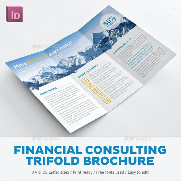 Financial Consulting Trifold Brochure