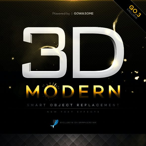Modern 3D Text Effects GO.3