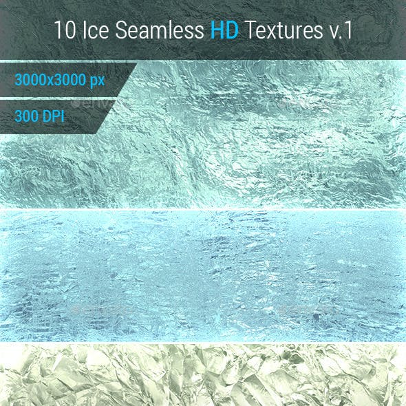 Ice Seamless and Tileable Background Texture v.1