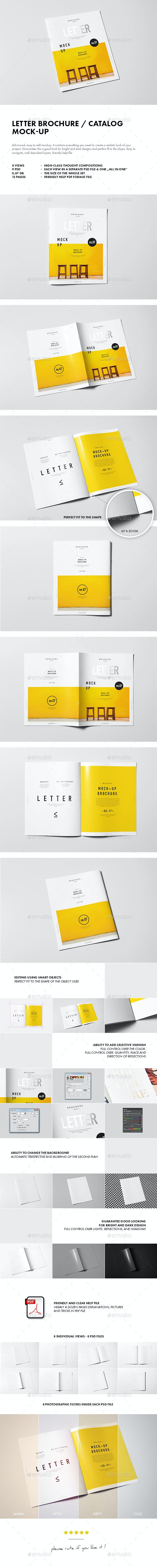 Letter Brochure / Catalog / Booklet Mock-up - Brochures Print