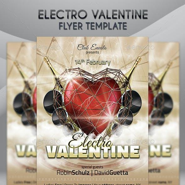 Electro Valentine Flyer Template
