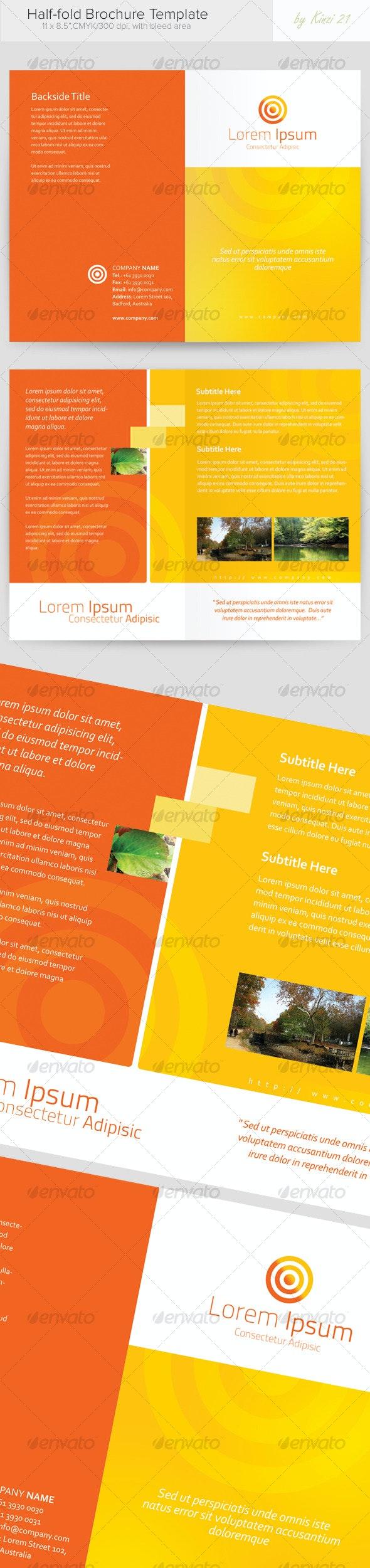 Half-fold Brochure Template - Corporate Brochures