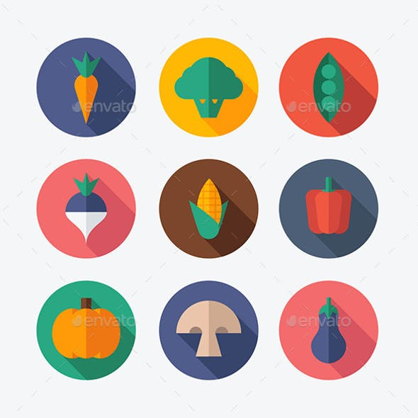 Vegetable Flat Icons