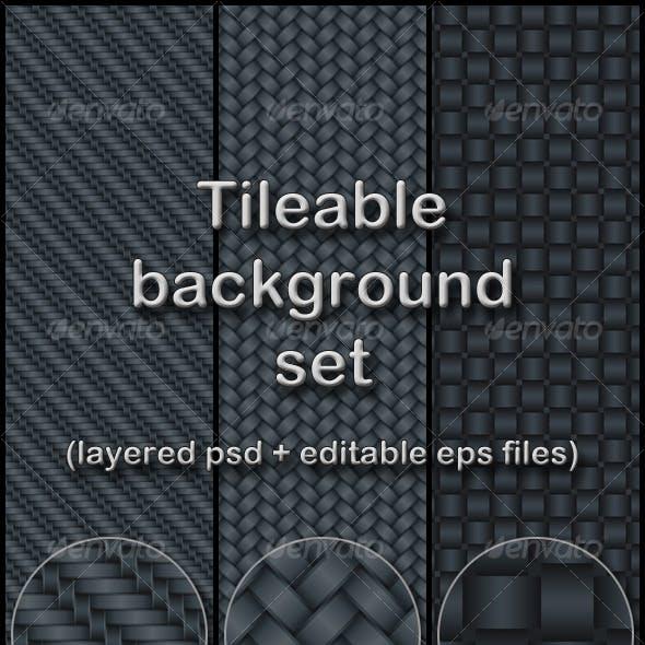 wicker tileable background set