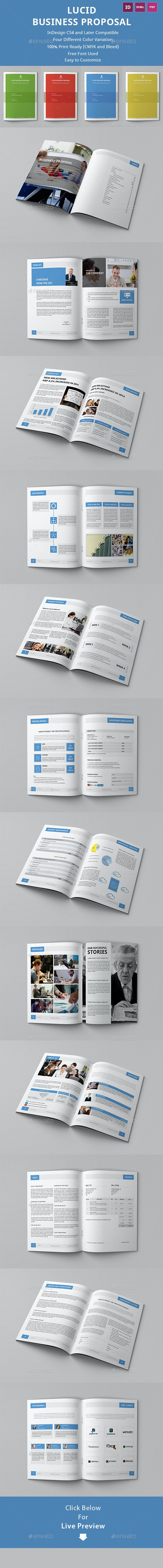Lucid Business Proposal Template - Proposals & Invoices Stationery