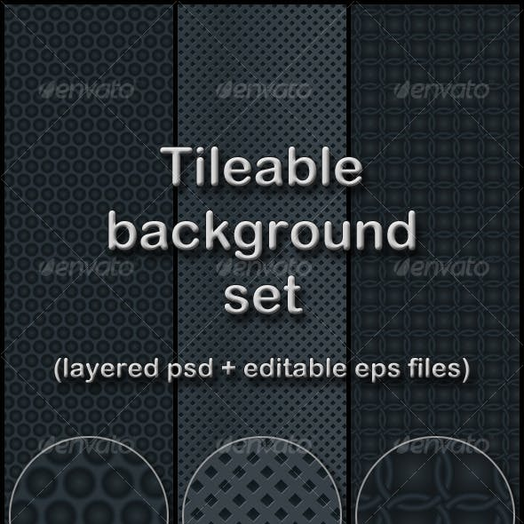 dark gray tileable background set