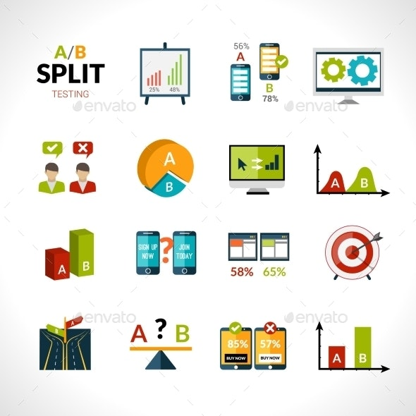A-b Testing Icons - Miscellaneous Icons