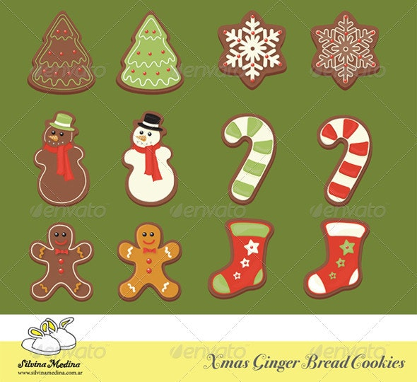 Christmas Gingerbread Cookies Collection