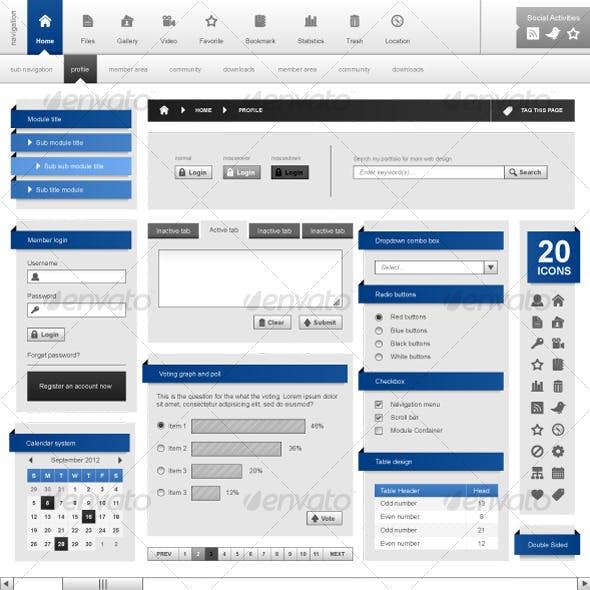 Web Design Template Element Frame Vector