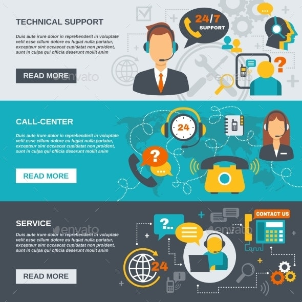 Support Call Center Banner - Communications Technology