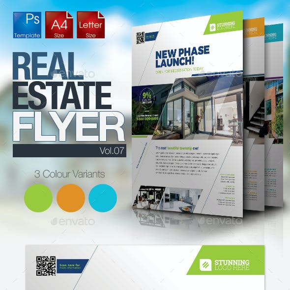 Simple Real Estate Flyer Vol.07