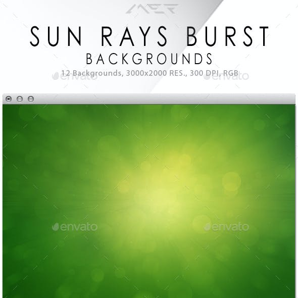 Sun Rays Burst Backgrounds