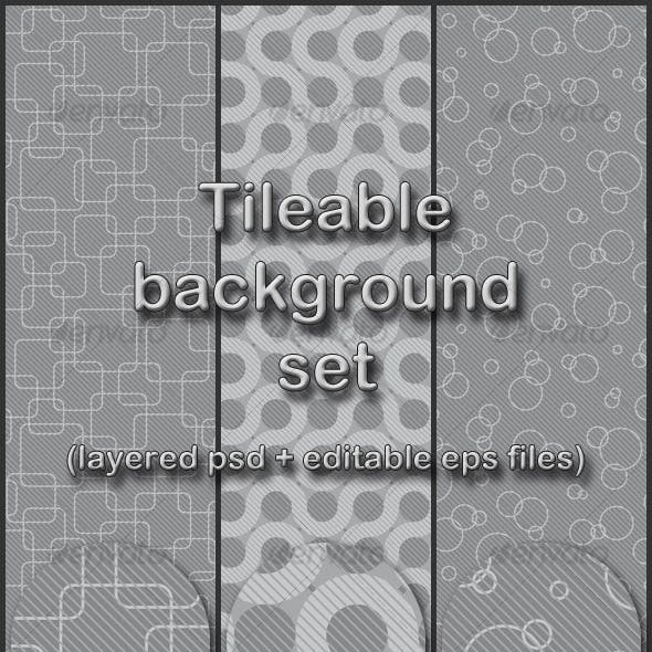 gray tileable background set