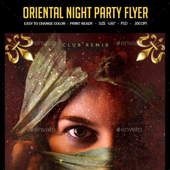 Oriental Night Party Flyer