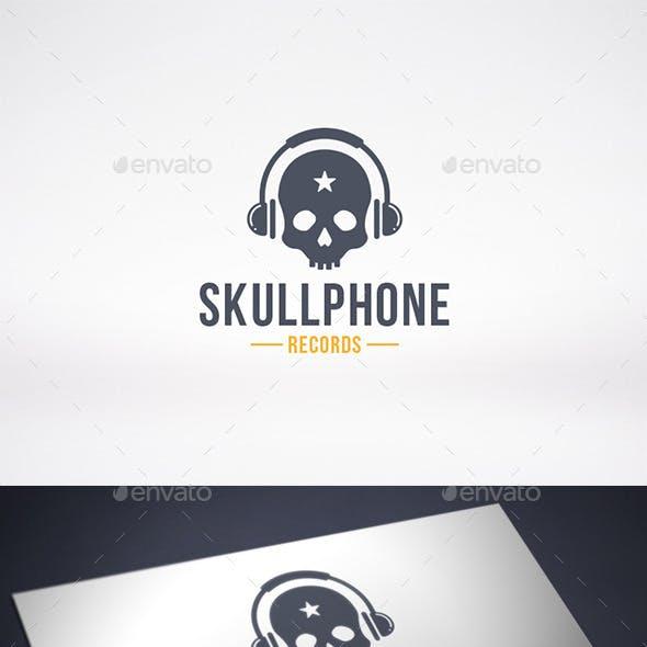 Music Skull Logo Template