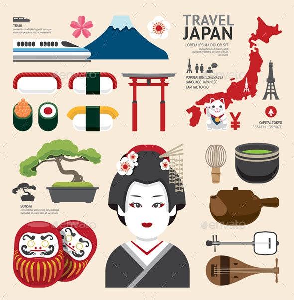 Infographic Japan Travel Design. - Infographics