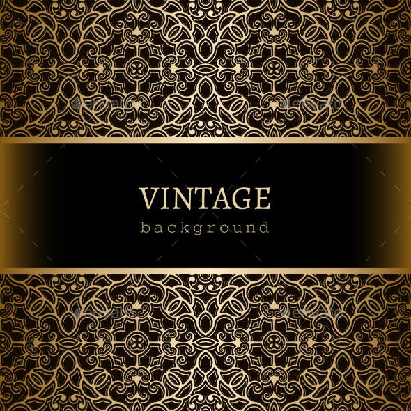 Vintage Gold Frame with Lace Borders