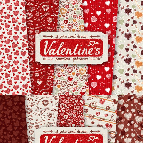 10 Valentines Day Patterns