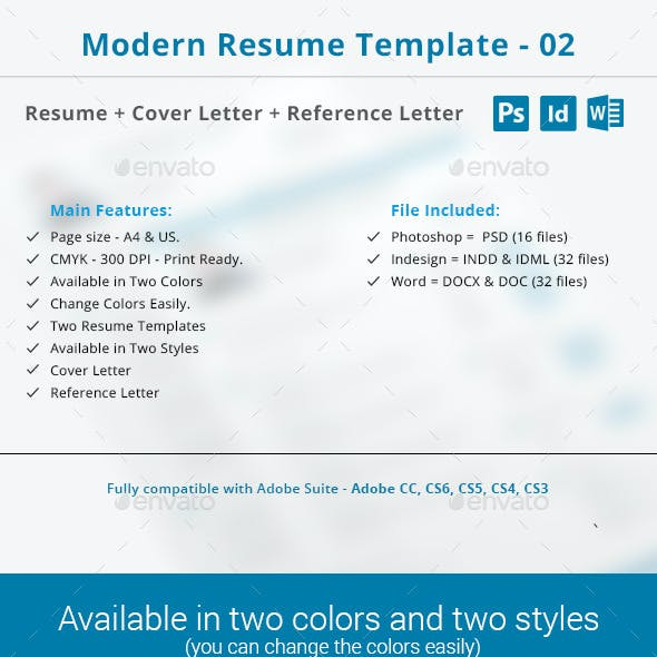 Reference On Resume Template from graphicriver.img.customer.envatousercontent.com