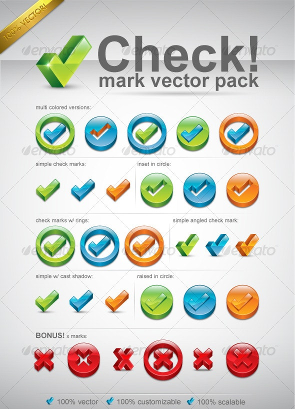 Check Mark Vector Pack - Miscellaneous Seasons/Holidays
